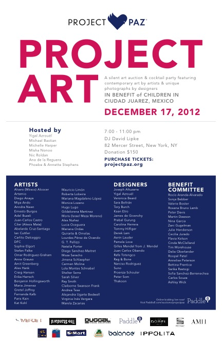 PROJECT ART FOR PROJECT PAZ 2012